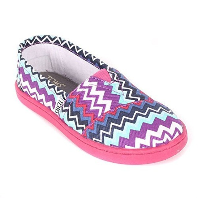 Toms Classic Slip-On Purple Zig Zag Pop