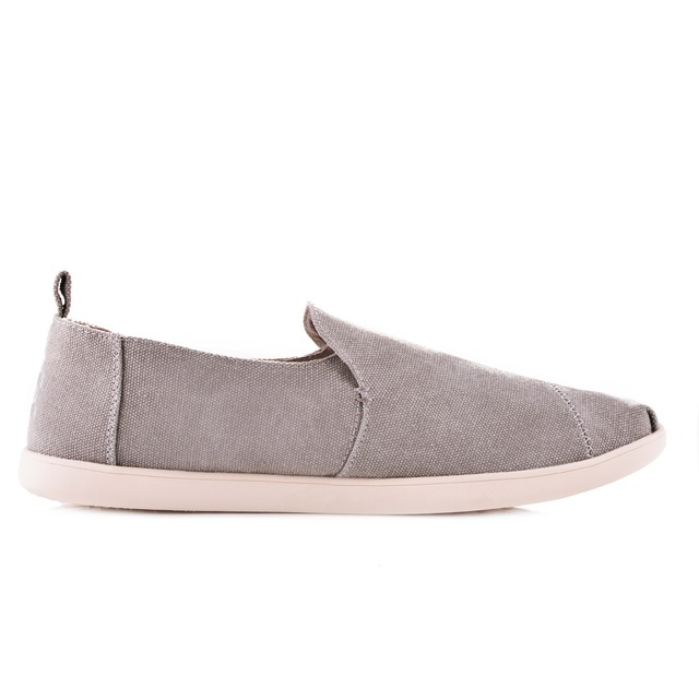 Toms Deconstructed Alpargata Drizzle Grey Washed Canvas