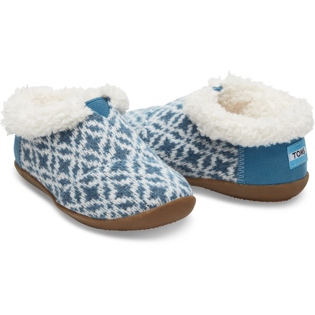 Tiny House Slipper - Blue Fair Isle