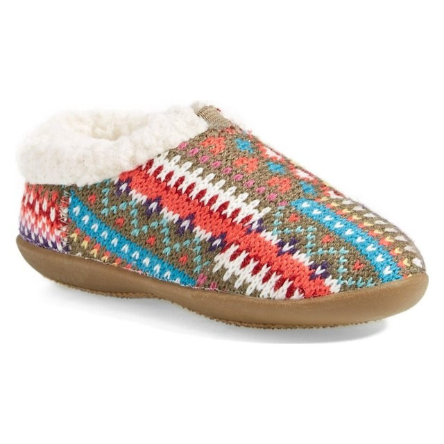 Tiny House Slipper - Stripe Knit