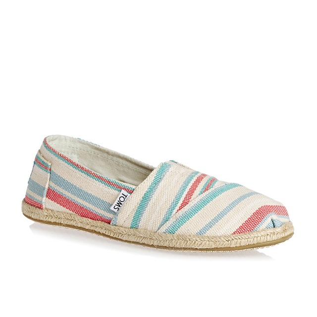 Toms Womens Classics Pale Pink Woven Stripe