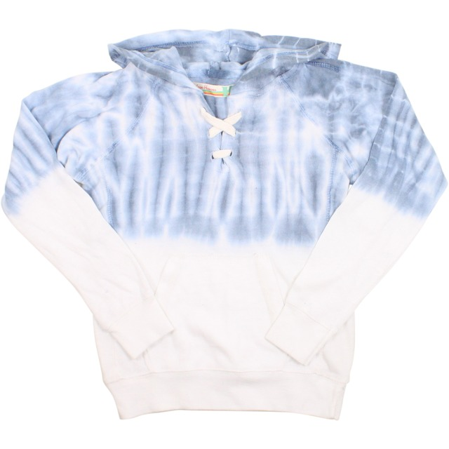 Vintage Havana Tye Dye Luxe Lace-Up Pullover Light Blue