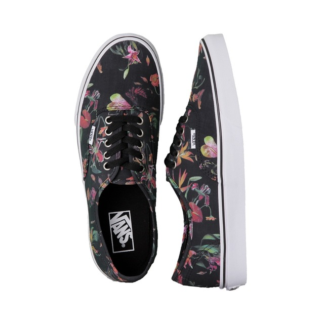 Authentic - (Black Bloom) Black/True White