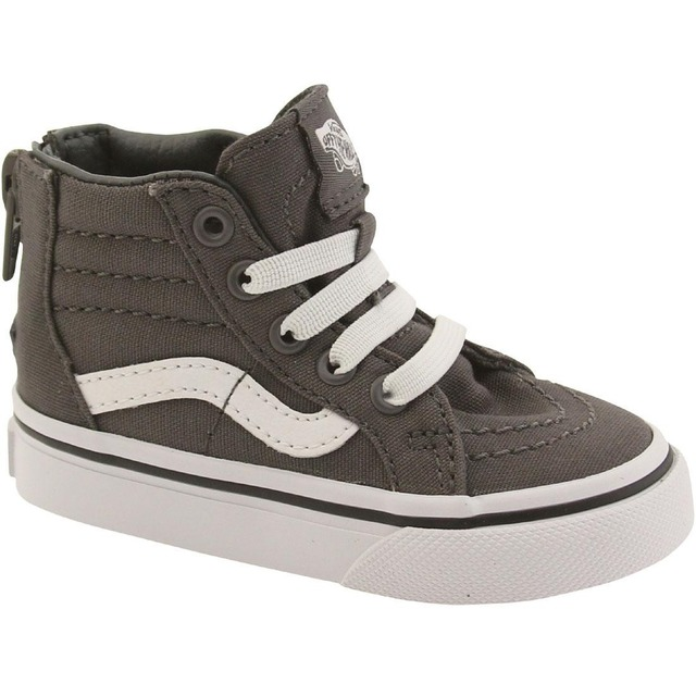 Vans Sk8-Hi Zip Sneakers (Pop Check) Pewter/ True White