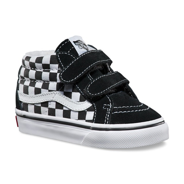 Sk8-Mid Reissue V Sneaker - (Checkerboard) Black/True White