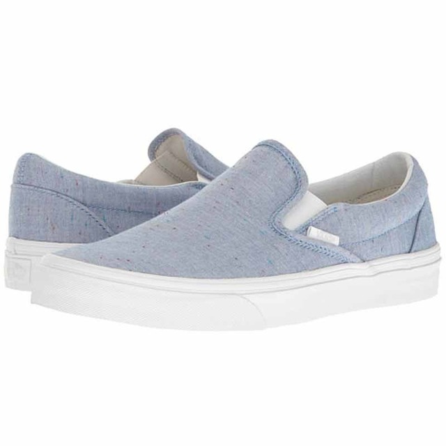 Vans Womens Classic Slip-On Speckle Jersey Blue/True White