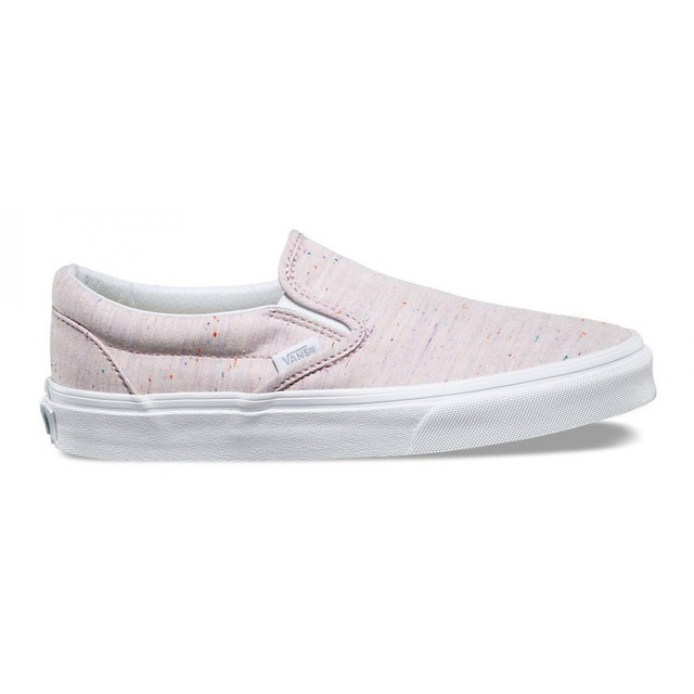 Vans Womens Classic Slip-On (Speckle) Pink Jersey
