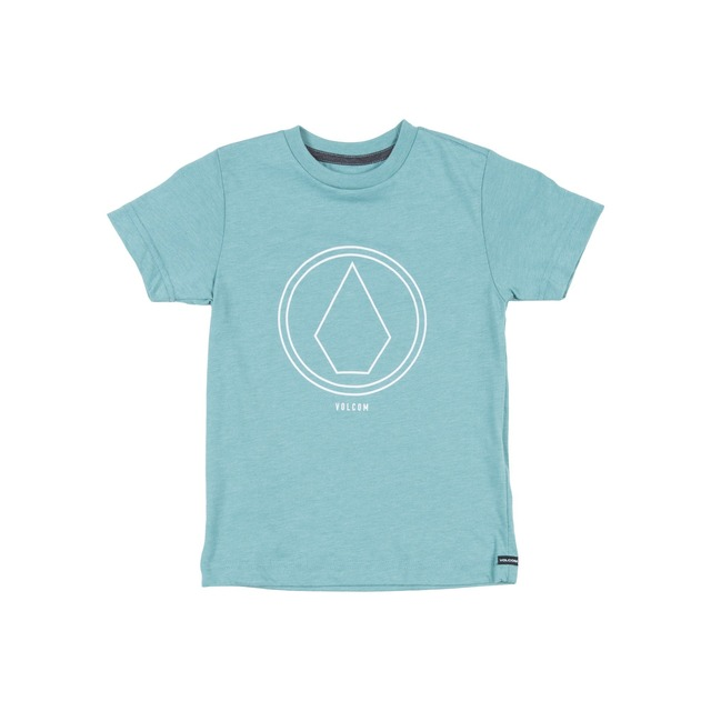 Volcom Pin Line Stone Short Sleeve Sea Blue